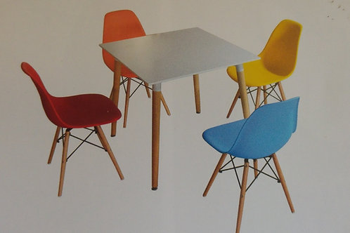 Lilley Square Table and 4 Chairs