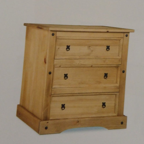 Corona 3 Drawer Wide Chest of Drawers