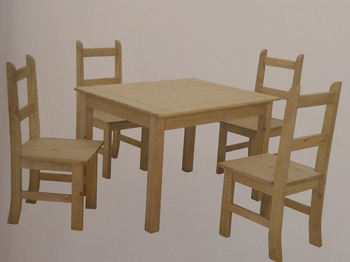 Coba Dining Table and 4 Chairs