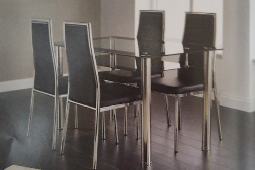 Andora Dining Table and 4 Chairs
