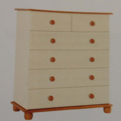 Skagen Cream 4 + 2 Drawer Chest of Drawers