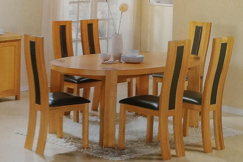 Zeus Oval Dining Table and 6 Chairs