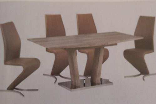 Geneva Extending Dining Table and 6 Chairs