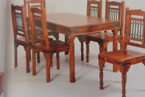 Jaipur Deco Dining Table and 6 Chairs