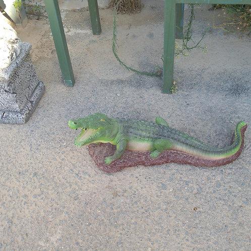 Concrete Painted  Crocodile