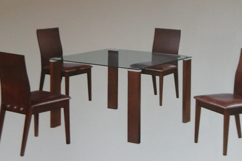 Omega Dining Table and 4 Chairs