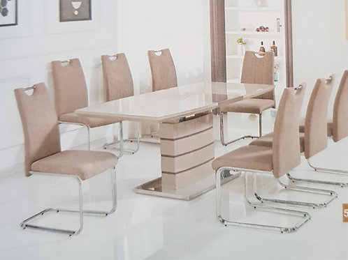Knightsbridge Extending Dining Table and 6 Chairs