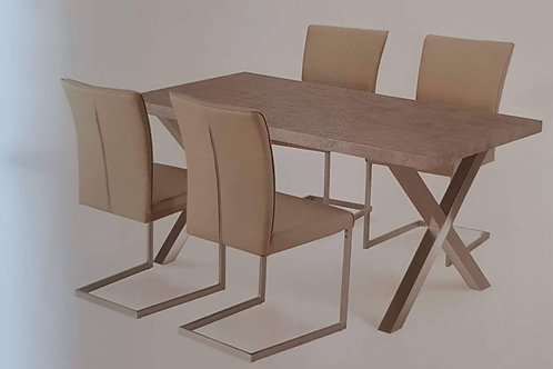 Helix Dining Table and 4 Chairs