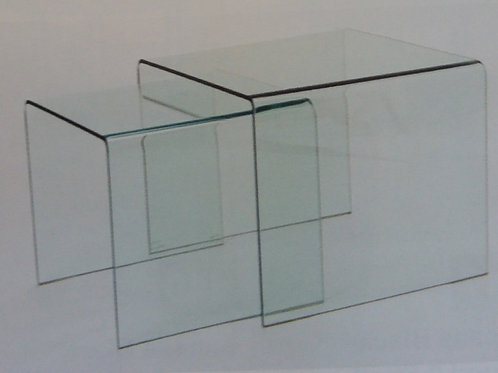 Angola Clear Nest of Tables 2 Piece