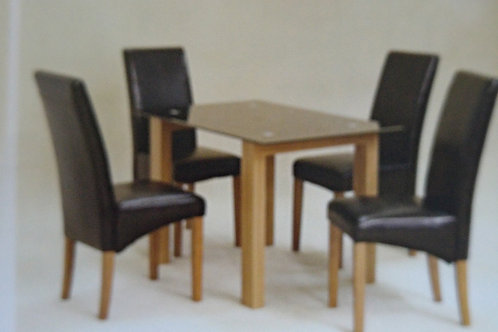 Adina Large Black Dining Table and 6 Chairs