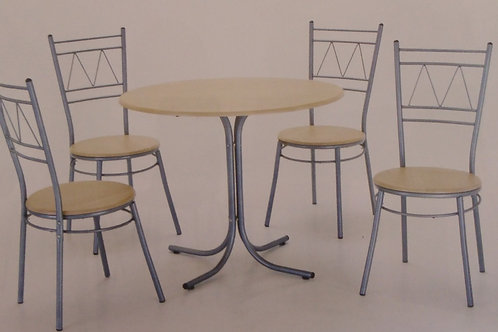 Oslo Round Dining Table and 4 Chairs