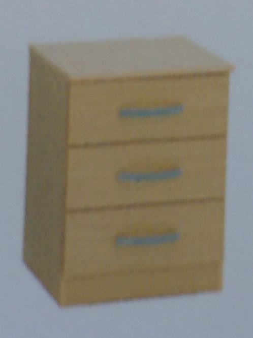 3 Drawer Bedside Cabinet