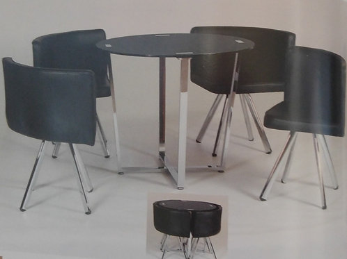 Spectrum Dining Table and 4 Chairs