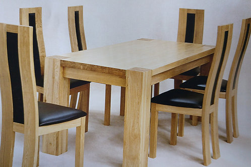 Zeus Rectangle Dining Table and 6 Chairs