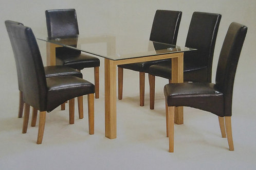 Adina Large Dining Table and 6 Chairs