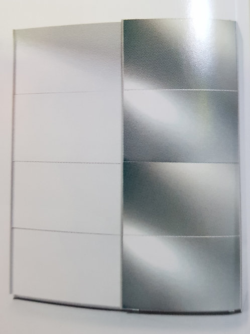 Arctic  Sliding 2 Door Wardrobe with Mirrors