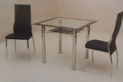 Jazo Black Dining Table and 2 Chairs
