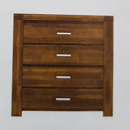 Parkfield Solid Acacia 4 Drawer Chest of Drawers