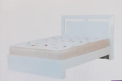 Sokota White High Gloss Bed