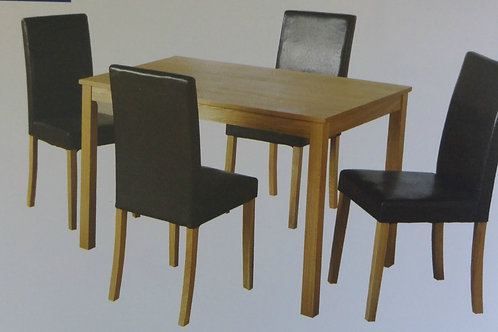 Ashmere Dining Table and 4 Chairs