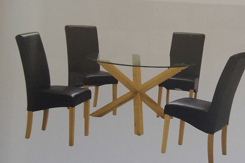 Saturn Dining Table and 4 Chairs