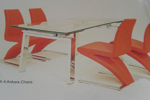Crystal Extending Dining Table and Chairs
