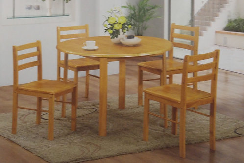York Dining Table Round and 4 Chairs