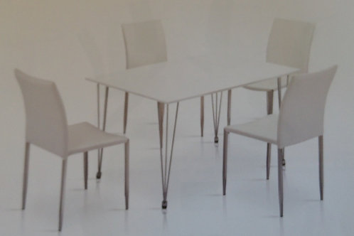 Iris Dining Table and 4 Chairs
