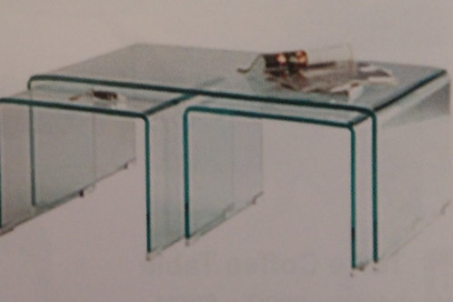 Angola Clear Set of 3 Tables