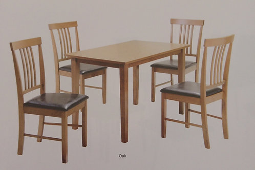 Massa Medium Dining Table and 4 Chairs