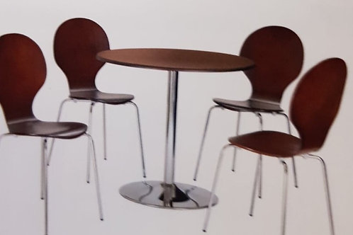 Fiji Round Dining Table and 4 Chairs