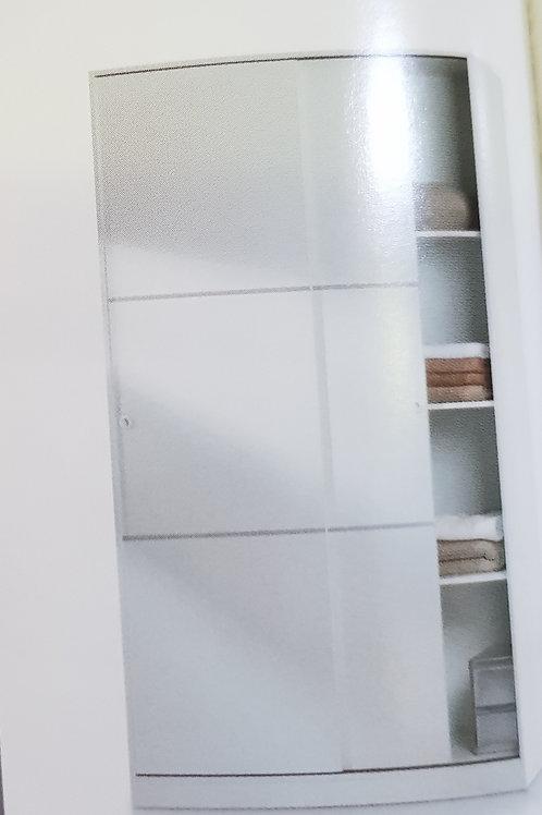 Arctic 2 Door Wardrobe with sliding Doors and shelves