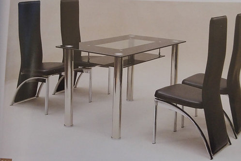 Vegas Small Dining Table and 4 Chairs