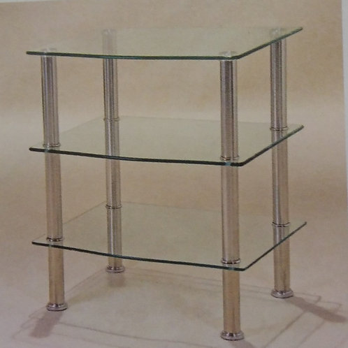 Hudson Clear 3 Shelf Unit