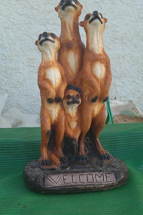 Concrete Meerkat Family
