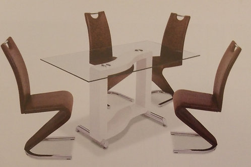 Kingsway Dining Table and 4 Chairs