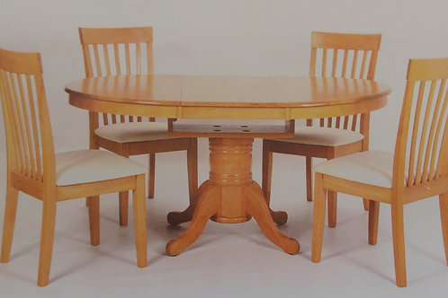 Leicester Extending Dining Table and 4 Chairs