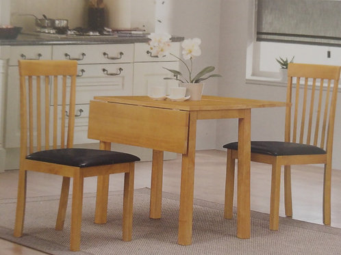Atlas Drop Leaf Dining Table and 2 Chairs