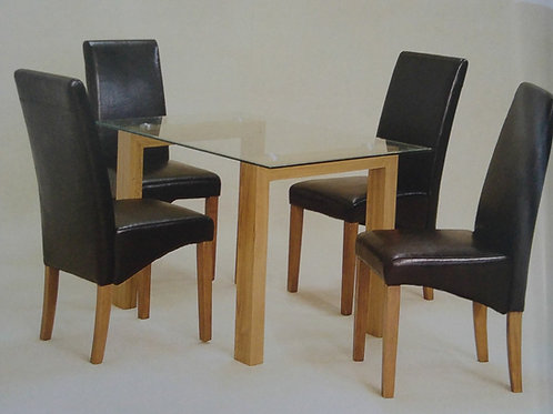 Adina Small Dining Table and 4 Chairs