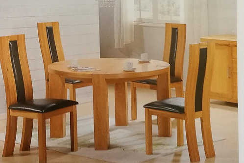 Zeus Round Dining Table and 4 Chairs