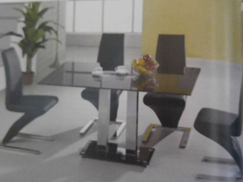 Trinity Large Dining Table and 4 Ankara Chairs