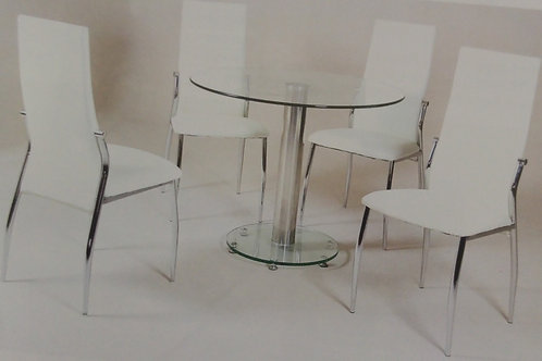 Alonza Black Dining Table and 4 Chairs