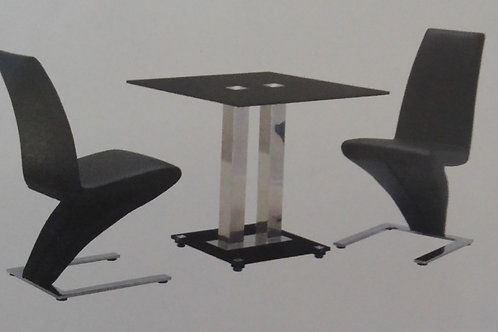 Trinity Small Dining Table and 2 Ankara Chairs