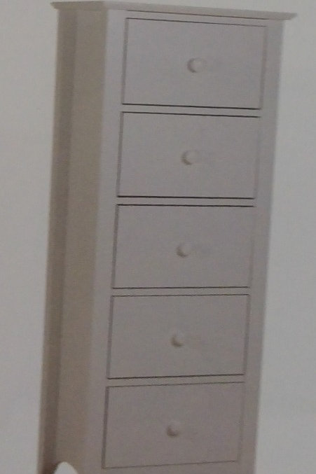 Chelsea 5 Drawer Narrow Chest of Drawers