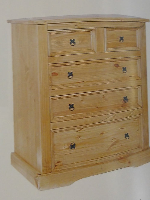 Corona 3 + 2 Drawer Wide Chest of Drawers
