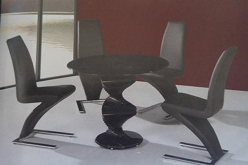 Cordoba Black Dining Table and 4 Ankara Chairs