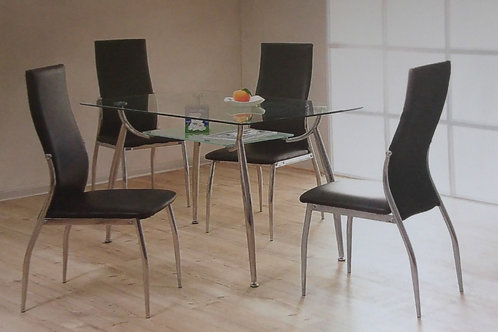 Lazio Dining Table and 4 Chairs