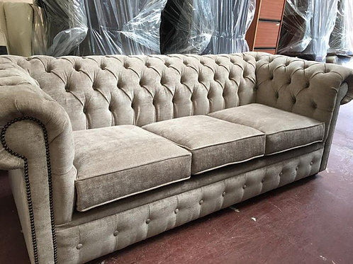 Chesterfield Fabric Sofa Suite