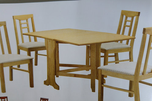 Liverpool Gateleg Dining Table and 4 Chairs