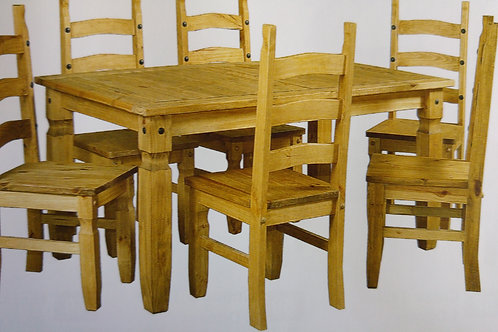 Corona Dining Table and 6 Chairs